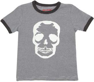Zadig & Voltaire Striped Skull Printed Jersey T-Shirt