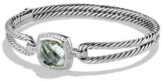 David Yurman Albion Bracelet with Prasiolite and Diamonds