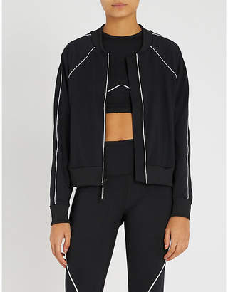 Good American Electric jersey bomber jacket