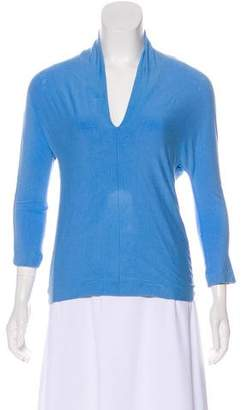Tara Jarmon V-Neck Long Sleeve Top