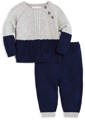 Miniclasix Boys' Color-Block Sweater & Knit Pants - Baby