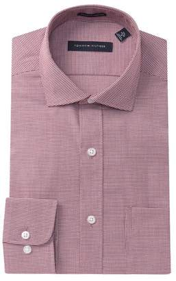 Tommy Hilfiger Houndstooth Slim Fit Dress Shirt