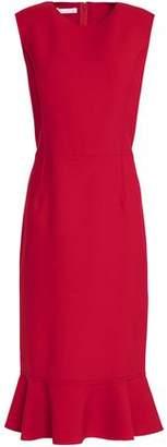 Oscar de la Renta Ruffle-Trimmed Wool-Blend Dress