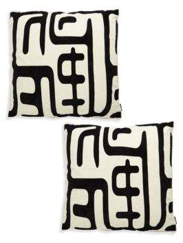 Geometric Print Pair of Pillows