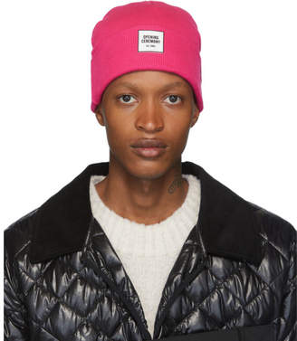 Opening Ceremony Pink New Era Edition Logo Beanie
