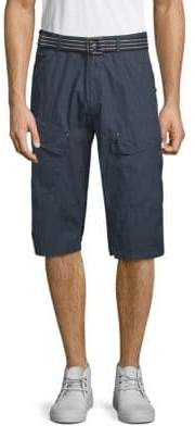 ProjekRaw Belted Cotton Shorts