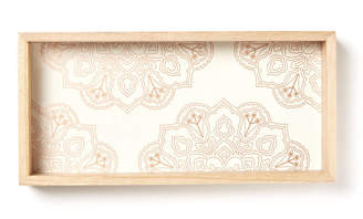 Fringe Lacquered Wooden Pencil Tray