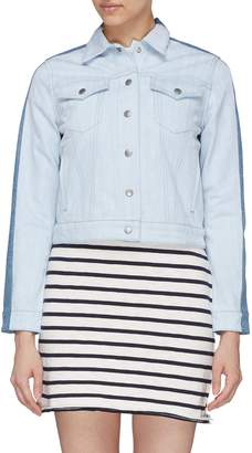 Rag & Bone 'Nico' colourblock back denim jacket