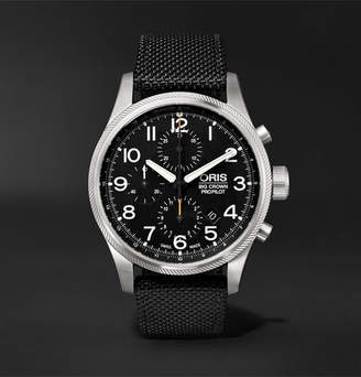 Oris Big Crown ProPilot Chronograph 44mm Stainless Steel and Nylon Watch - Black
