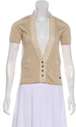 Salvatore Ferragamo Button-Up Short Sleeve Top