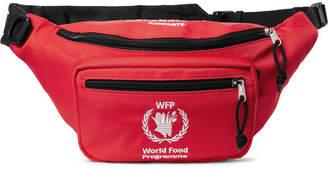 Balenciaga World Food Programme Logo-Embroidered Nylon Belt Bag - Red