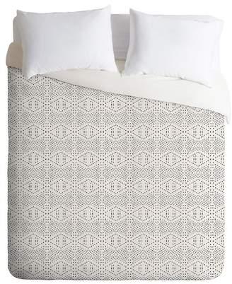 Deny Designs Holli Zollinger Boho Tile Queen Duvet Cover - Grey