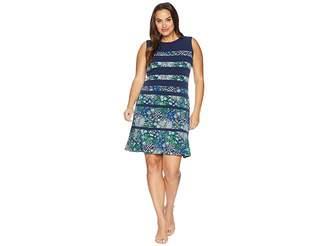 MICHAEL Michael Kors Size Paisley Remix Paneled Dress