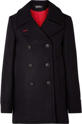 Rag & Bone Nella Wool-blend Felt Coat - Navy