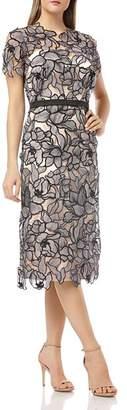 JS Collections Laser-Cut Lace Dress