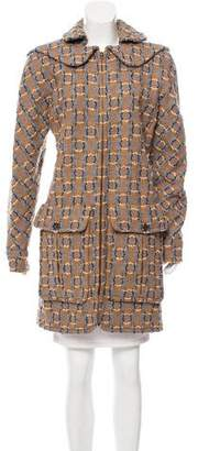 Chanel Wool Patterned Coat