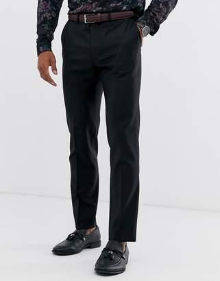 Asos Design DESIGN wedding skinny suit pant in black 100% wool