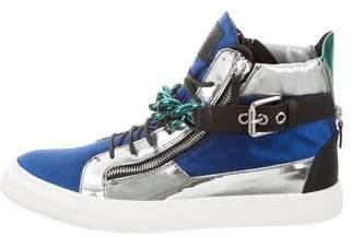 Giuseppe Zanotti London Tr Uomo Satin Sneakers w/ Tags