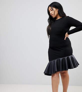 Asos PU Pephem Mini Dress