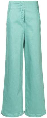 Tibi high-waisted wide leg trousers