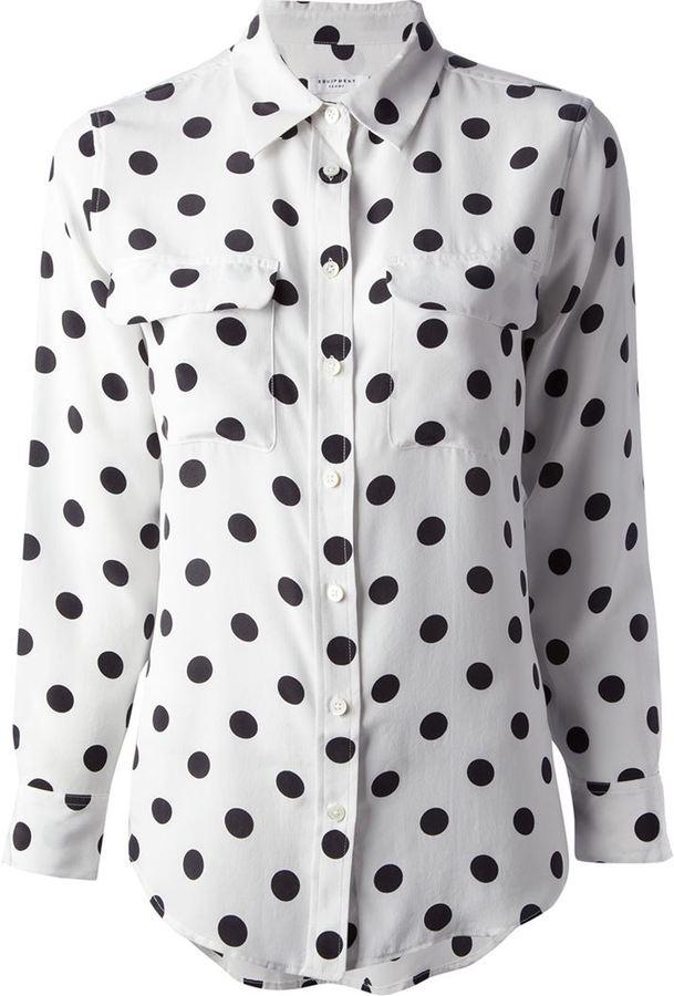 Equipment signature 'Spot Slim' shirt