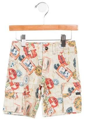 Junior Gaultier Boys' Niky Printed Shorts w/ Tags