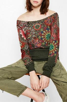 DESIGUAL Maldivas Sweater $115.95 thestylecure.com
