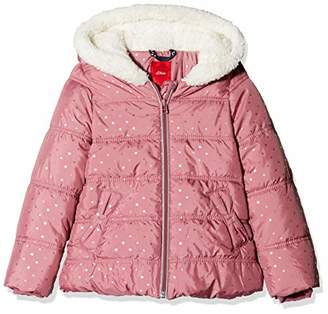 S'Oliver Girls' 58.809.51.4351 Jacket (Dark Pink AOP 43s6)