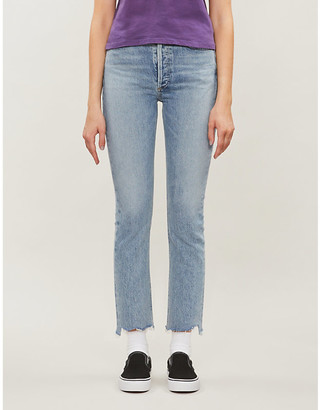 A Gold E AGOLDE Riley straight high-rise jeans