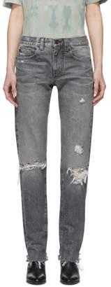 Saint Laurent Grey Boyfriend Jeans