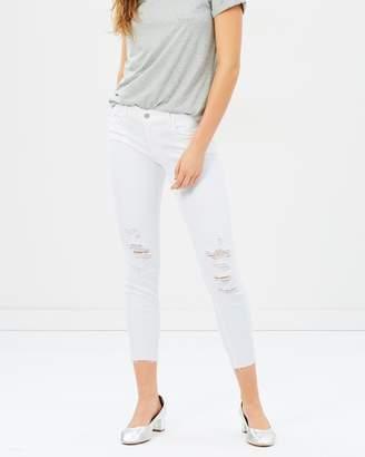 J Brand Low-Rise Crop Skinny Jeans