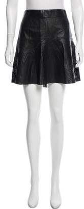 Vince Perforated Leather Mini Skirt