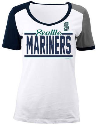 5th & Ocean Women's Seattle Mariners Cb Sleeve T-Shirt