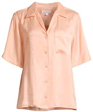 Equipment Burdette Silk Short-Sleeve Blouse
