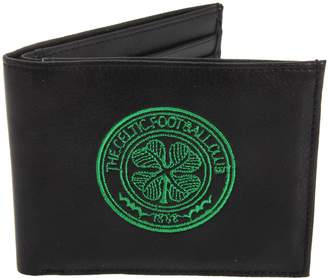 Celtic F.C. FC Mens Official Leather Wallet With Embroidered Football Crest