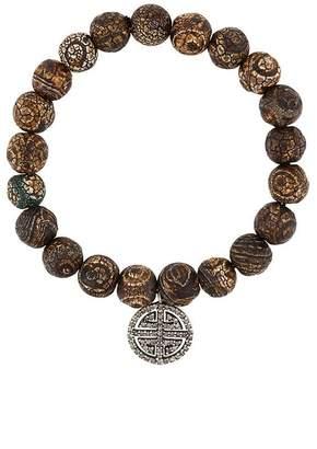 Monan beaded diamond charm bracelet