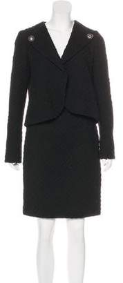 Chanel Patterned Wool Skirt Suit