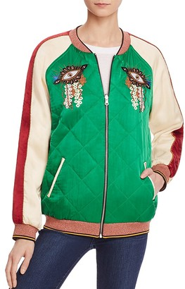 Scotch & Soda Reversible Color Block Bomber Jacket $225 thestylecure.com