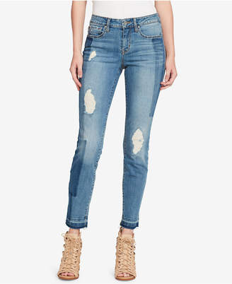 Jessica Simpson Juniors' Colorblocked Skinny Jeans