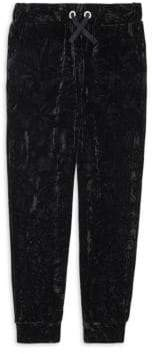 Design History Girl's Crushed Velour Pants