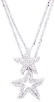 SwarovskiHolly Double Pendant Necklace