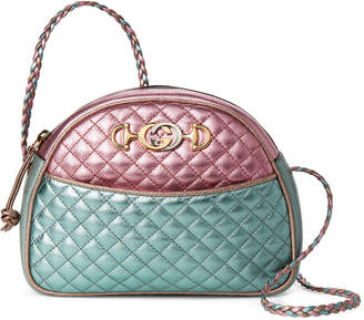Gucci Pink & Blue Quilted Laminated Leather Small Shoulder Bag