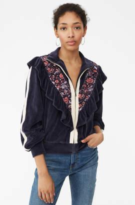 Rebecca Taylor La Vie Toile Fleur Velour Jacket
