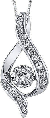 Sirena 3/8 CT. Diamond 14K White Gold Infinity Pendant Necklace