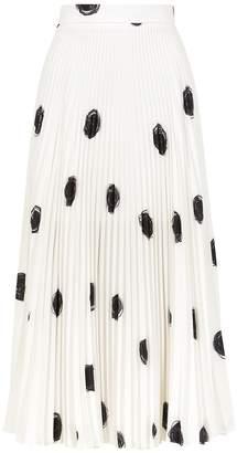 Christopher Kane Monochrome Polka-dot Midi Skirt