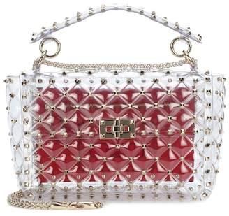 Valentino Rockstud Spike transparent shoulder bag