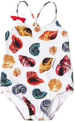 Dolce & Gabbana Seashells Print Lycra One Piece Swimsuit