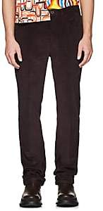 Prada Men's Cotton Corduroy 5-Pocket Trousers - Purple