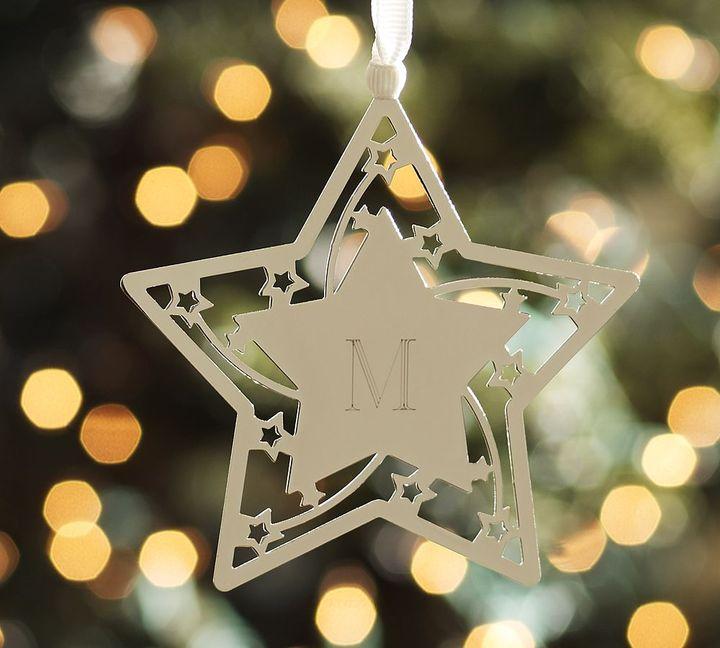 Monogrammable Filigree Star Ornament