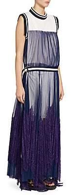 Sacai Women's Lace & Tulle Maxi Dress